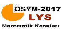 2018 LYS Matematik Konuları ve Soru Dağılımı