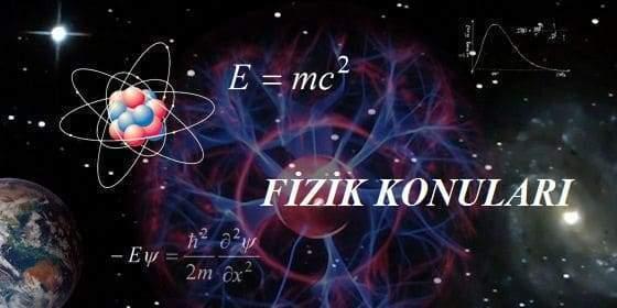 2020 YKS AYT Fizik Konuları ve Soru Dağılımı(ÖSYM-YÖK-MEB)