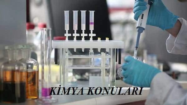 2019 YKS AYT Kimya Konuları ve Soru Dağılımı(ÖSYM-YÖK-MEB)