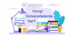Acil Yardım ve Afet Yönetimi (Yüksekokul) Bölümü Hangi Üniversitelerde Var?