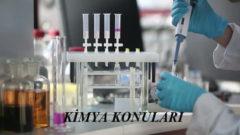 2018 YKS Kimya Konuları ve Soru Dağılımı (ÖSYM-YÖK-MEB)