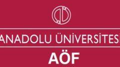 AÖF Sosyoloji Dersleri ve Kredileri 2014 2015
