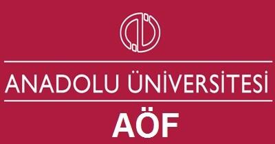 Açıköğretim(AÖF) Bölümleri 2016 2017 Taban Puanları