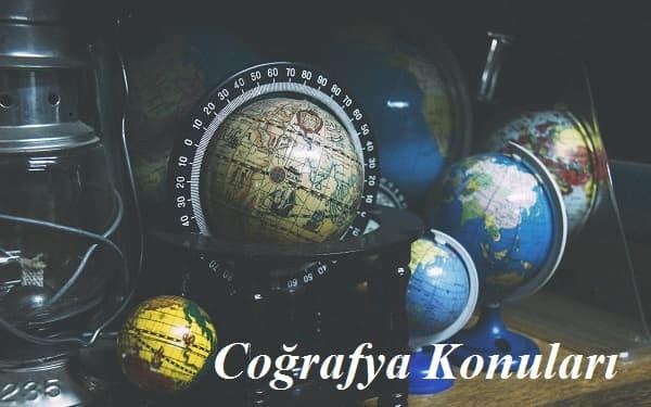 2018 YKS Coğrafya-2 Konuları ve Soru Dağılımları-(ÖSYM-YÖK-MEB)