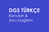 2020 DGS Türkçe Konuları ve Soru Dağılımı (ÖSYM-MEB)