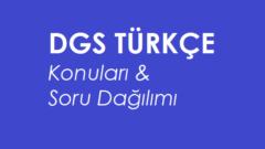 2021 DGS Türkçe Konuları ve Soru Dağılımı (ÖSYM-MEB)