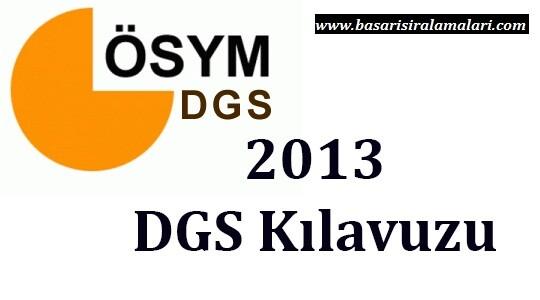 2013 DGS ek yerleştirme tercih Kılavuzu ÖSYM