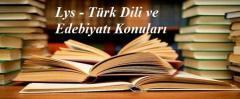 2018 Lys Türk Dili ve Edebiyatı Konuları Soru Dağılımı