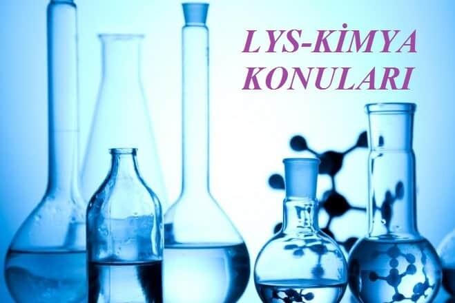 2018 LYS Kimya Konuları Soru Dağılımı