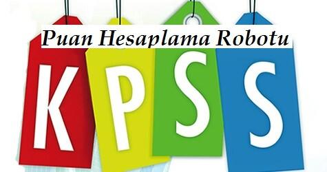 2015 KPSS Lisans Puanı Hesaplama (KPSS 3)