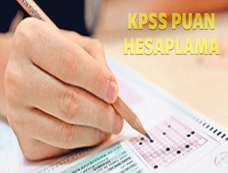 KPSS Önlisans Puan Hesaplama 2019