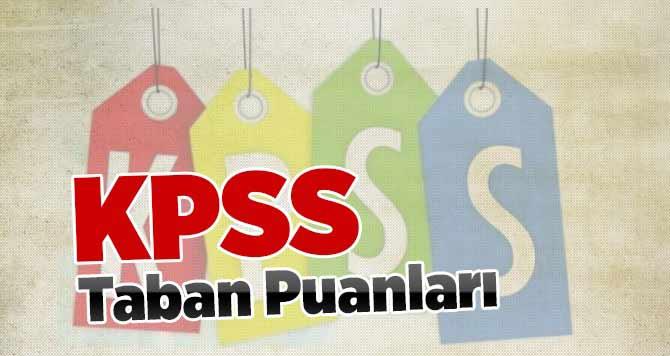 2013/1 KPSS Taban Puanları (Ortaöğretim Önlisans ve Lisans)