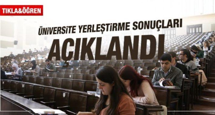 2018 YKS Üniversite yerleştirme sonuçları açıklandı
