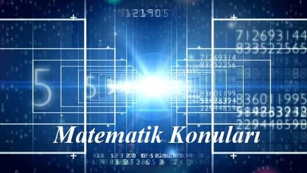 12. Sınıf Matematik Konuları 2017 2018 MEB