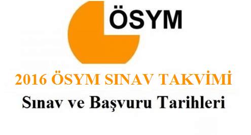 ÖSYM 2016 sınav takvimi, YGS sınav giriş tarihi