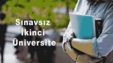 Sınavsız İkinci Üniversite Bölümleri 2018 2019