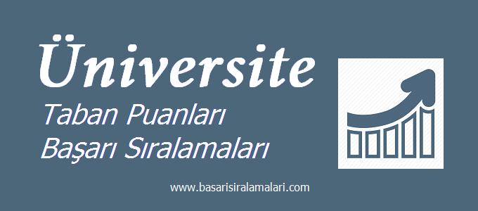 Kastamonu Üniversitesi 2018 2017 Taban Puanları Başarı Sıralaması