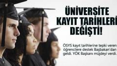 2013 Üniversite Kayıt Tarihleri Açıklandı