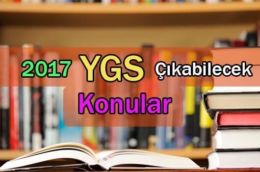 2017 Ygs Konuları Soru Dağılımı